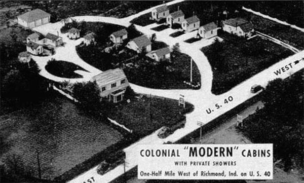 U s route 40 cottages motor courts and motels indiana for Colonial motors indiana pa