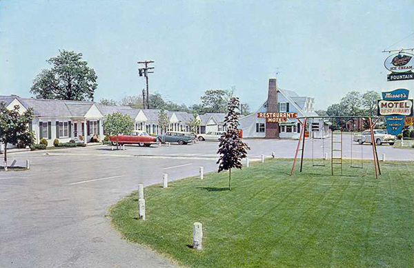 U S Route 40 Cottages Motor Courts And Motels Maryland